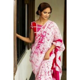 34a7f77c2e Handblock printed cotton saree