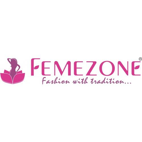 Femezone designer hand block printed cotton  Kurti with plazo set