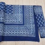 indigo king size bedsheet