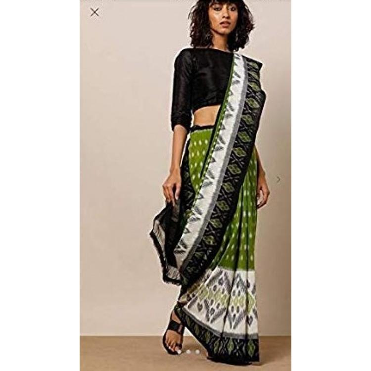 Handblock printed cotton saree